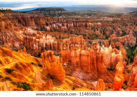 Sunrise at Bryce Canyon National Park - Utah - stock photo