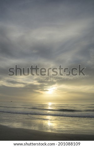 Sunrise at Cape Canaveral National Seashore in Florida. - stock photo