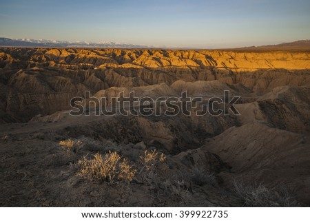 Sunrise at Charyn Canyons
