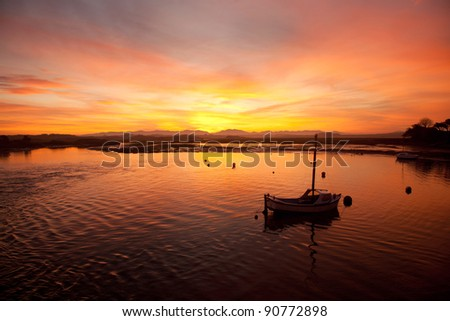 Sunrise at Four Mile Bridge and the Inland Sea Isle of Anglesey North Wales