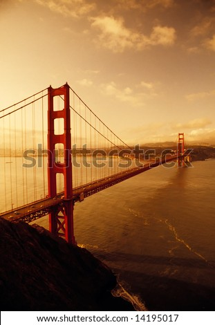 Sunrise at Golden Gate Bridge, San Francisco, California