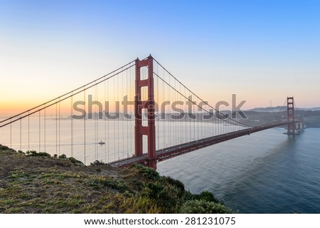 Sunrise at Golden gate, San francisco