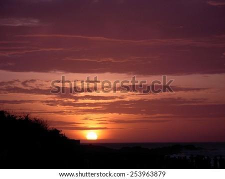 Sunrise At Kanyakumari, India - stock photo