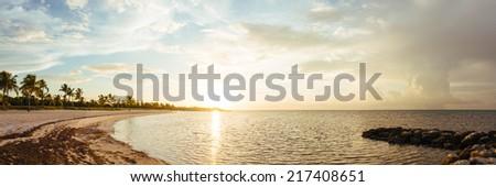 Sunrise at Key West, Florida, USA. - stock photo