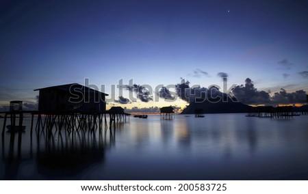 Sunrise at Maiga Island, Sabah, Malaysia - stock photo