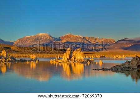 Sunrise at Mono Lake - stock photo