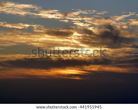 Sunrise at mount Sinai, Egypt - stock photo
