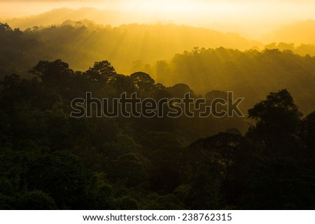 sunrise at nam nao national park