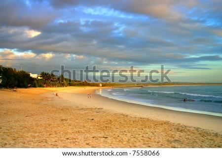 Sunrise at Noosaville, Sunshine Coast, Australia - stock photo
