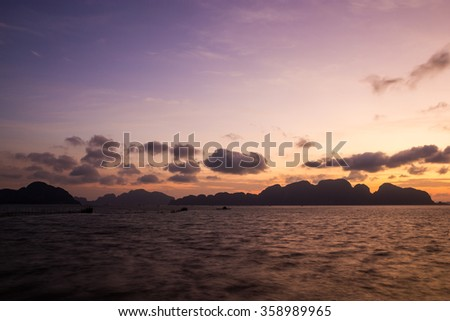 Sunrise at Phang Nga Bay, Thailand