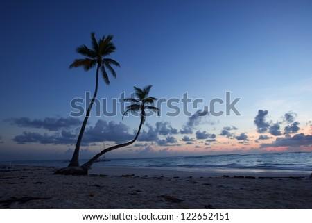 sunrise at Punta Cana, Dominican Republic - stock photo