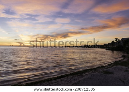 Sunrise at Sanibel Island, Florida - USA. - stock photo