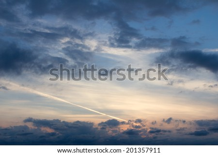 sunrise at the shorline in holland - stock photo