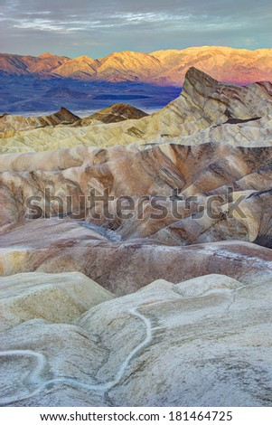 Sunrise at Zabriskie Point, Death Valley - stock photo