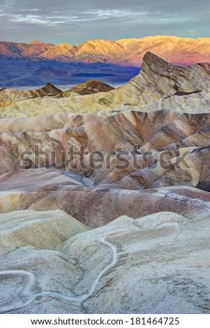 Sunrise at Zabriskie Point, Death Valley - stock photo