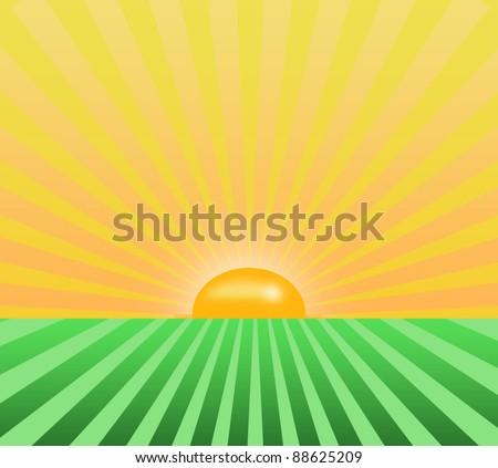 sunrise background - stock photo