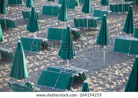Sunrise beach - stock photo