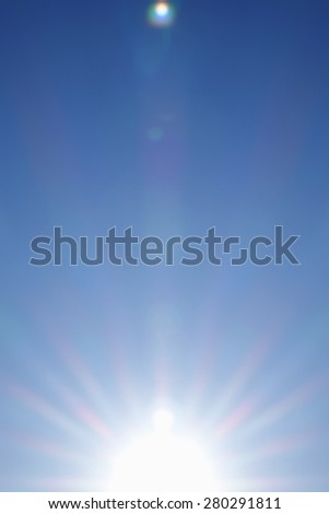Sunrise. Blurred abstract background of  sky.