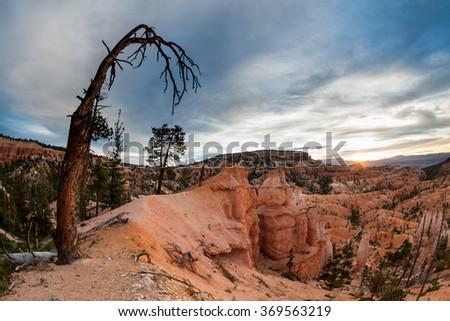 Sunrise Bryce Canyon National Park, Utah - stock photo