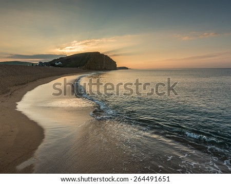 Sunrise by the Ocean - stock photo