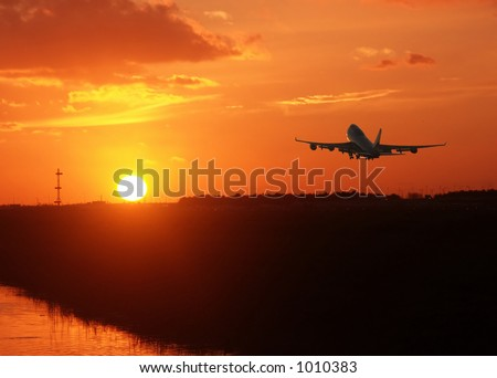 Sunrise climb - stock photo
