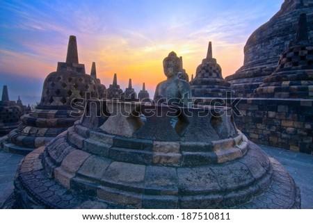Sunrise Enlightenment of Buddha - stock photo