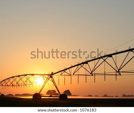 Sunrise Farm - stock photo