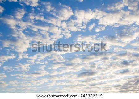 Sunrise from cloudy on sky - stock photo