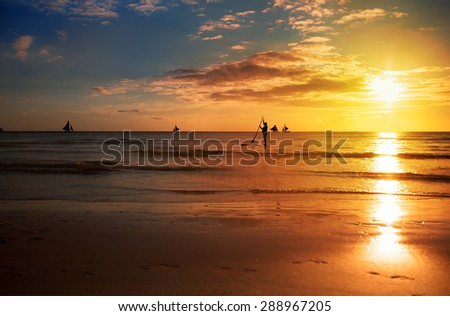 sunrise in and sea, beautiful summer wallpaper