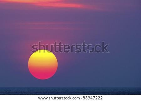 Sunrise in Bali - stock photo