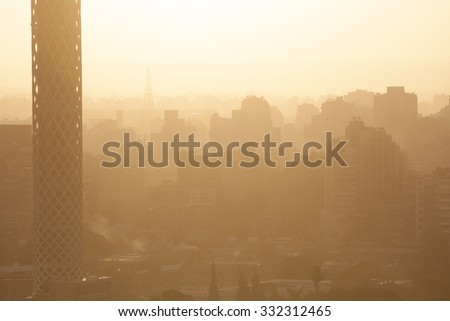 Sunrise in Egypt Cairo - stock photo