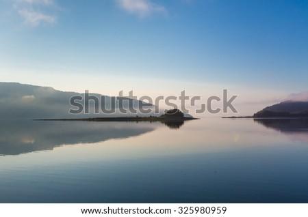 Sunrise in Glacier Bay, Alaska - stock photo