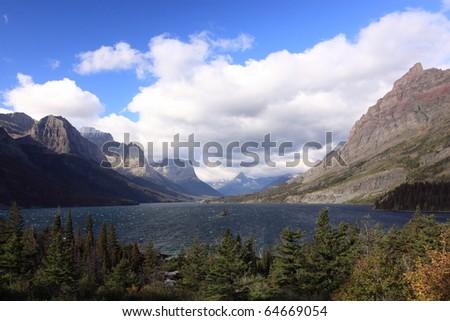 Sunrise in Glacier National Park - stock photo