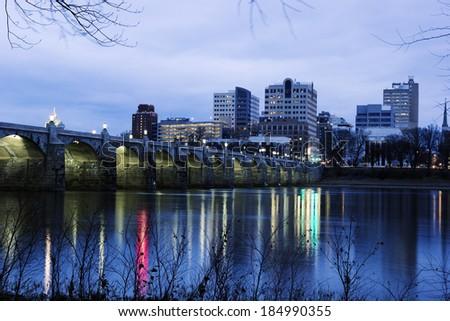 Sunrise in Harrisburg, Pennsylvania - stock photo