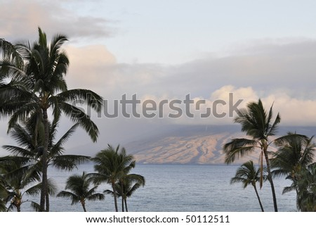 Sunrise in Maui Island, Hawaii - stock photo
