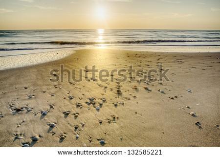 Sunrise in Melbourne Beach, Florida. - stock photo