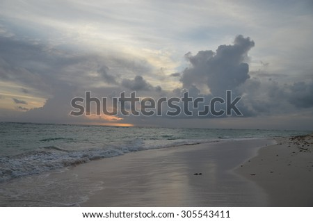 Sunrise in Punta Cana, Dominican Republic.