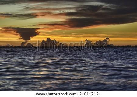 Sunrise in Sanibel Island, Florida. - stock photo