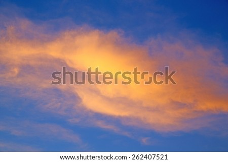 sunrise  in the colored sky white soft clouds and abstract background - stock photo