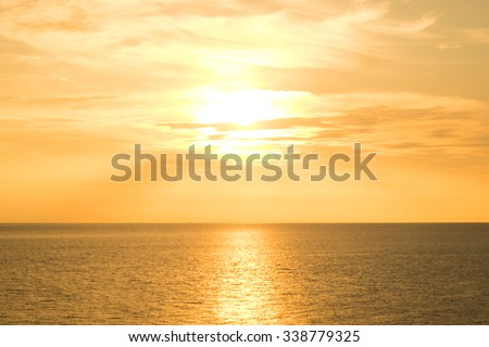 Sunrise in the sea for background. - stock photo