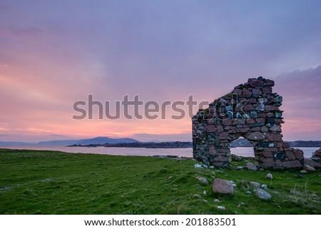 Sunrise - Isle of Iona - Inner Hebrides of Scotland - stock photo