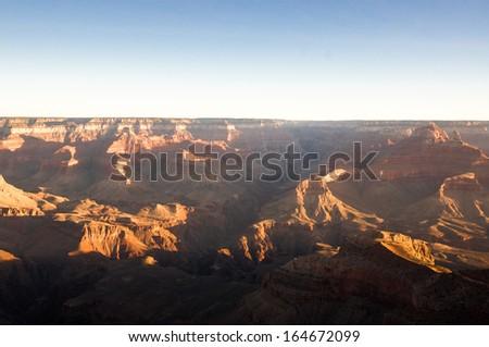 Sunrise of Grand canyon - stock photo