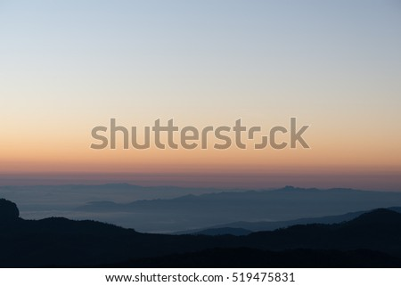 Sunrise of the Thai national park