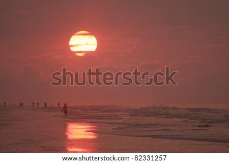 Sunrise on Hilton Head Island, South Carolina - stock photo