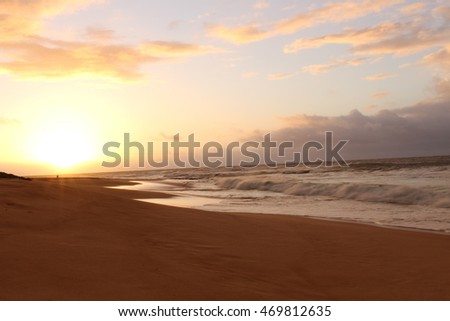 Sunrise on Sandy Beach
