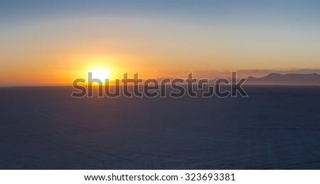 Sunrise on the Black Rock Desert - stock photo