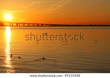 Sunrise On The Harbour - stock photo