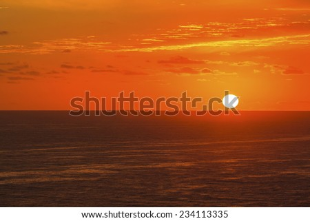 Sunrise on the South Pacific  - stock photo
