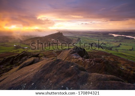 Sunrise over Hen Cloud - The Roaches, Peak District