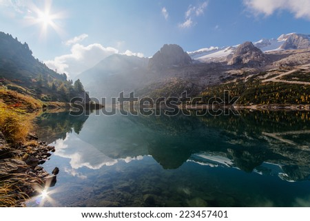 "Sunrise over ""Lago di Feraia"", Italy"